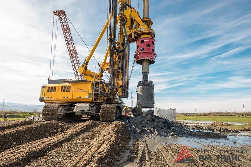 Перевозка буровых станков для свай в Новосибирске