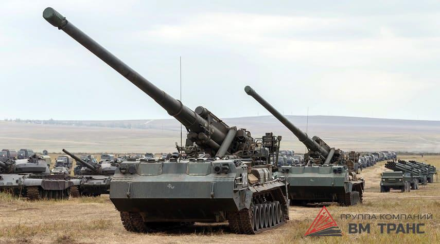 Перевозка артиллерии в Новосибирске