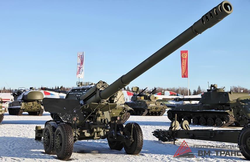 Перевозка военных пушек в Новосибирске